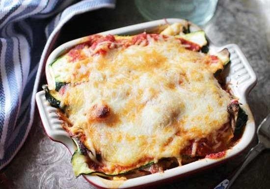 Zucchini Lasagna For One | One Dish Kitchen