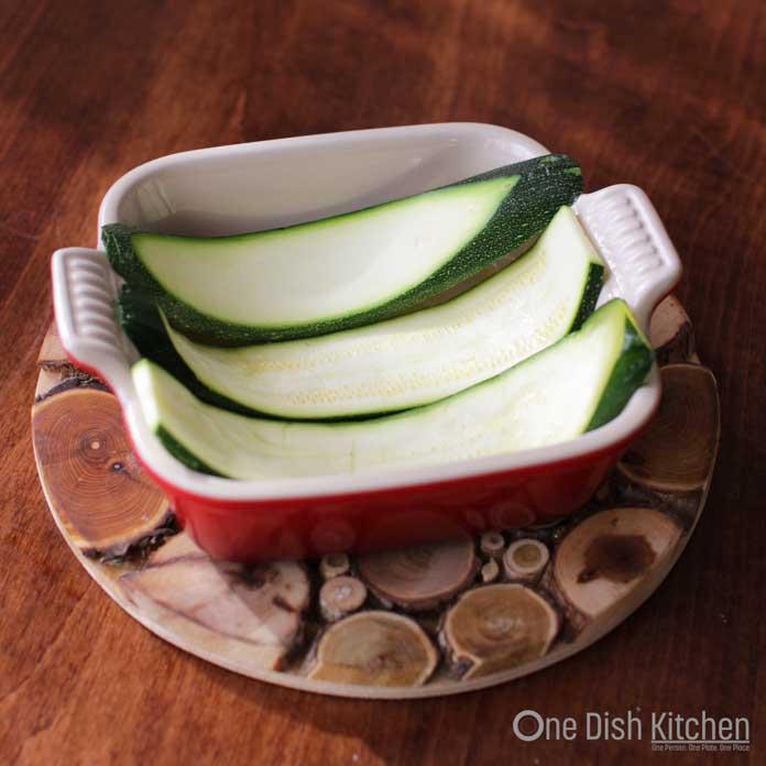 Zucchini Noodles in Baking Dish | One Dish Kitchen