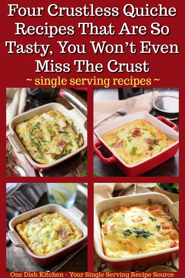 The key to a really great quiche doesn't lie In the crust. Instead, a flavor-filled quiche relies on a delicate, creamy custard. This delightful filling is what makes these crustless quiche recipes incredibly delicious and we're absolutely convinced that you won't even miss the crust. | One Dish Kitchen