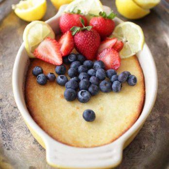Low Carb Lemon Cake | One Dish Kitchen