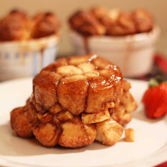 Apple Fritter Monkey Bread \ One Dish Kitchen