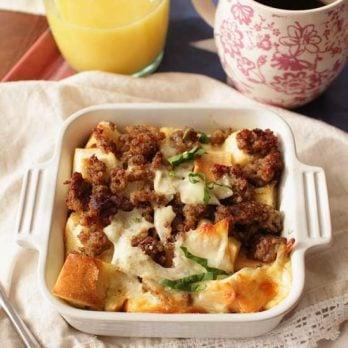 Overnight Breakfast Casserole For One | One Dish Kitchen