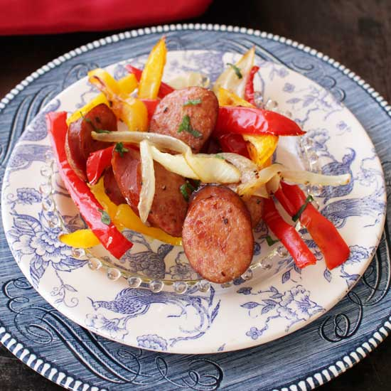 Promo image for Sheet Pan Sausage and Peppers For One recipe