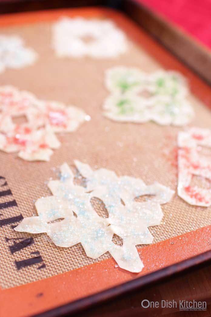Baked Wonton Ornaments | One Dish Kitchen