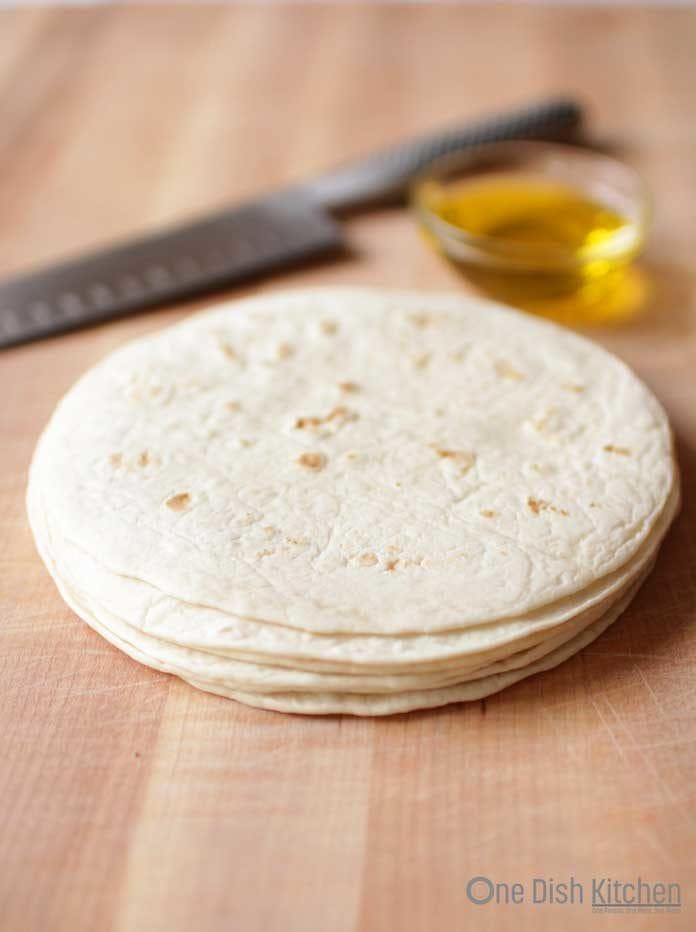 stack of tortillas for baked tortilla chips