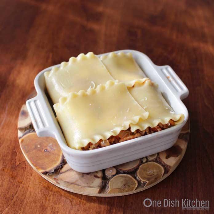 Homemade Lasagna | Single Serving | One Dish Kitchen
