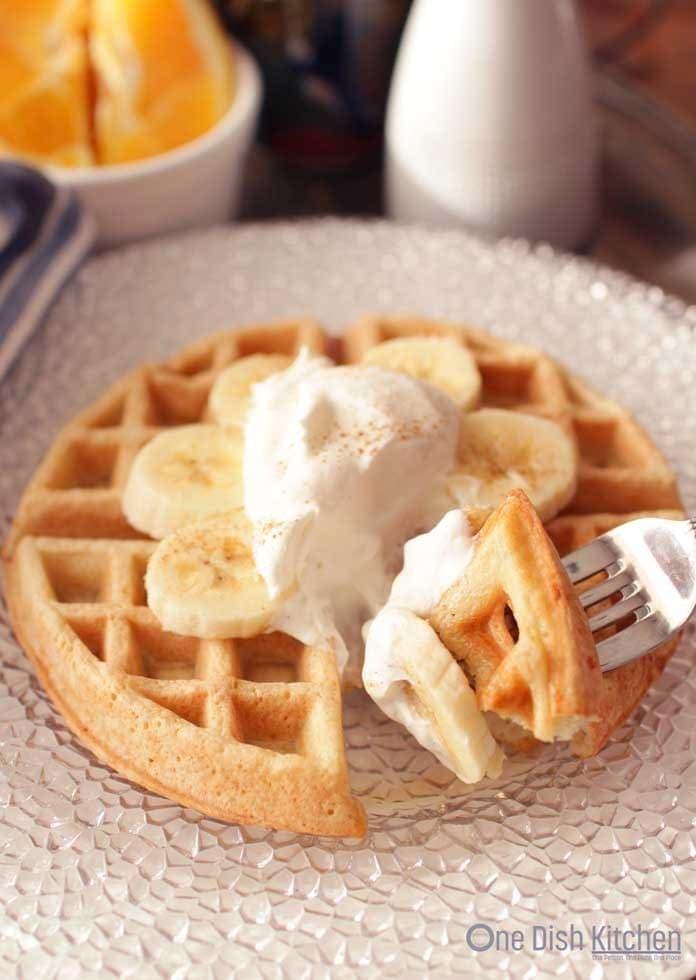 Homemade waffle | One Dish Kitchen