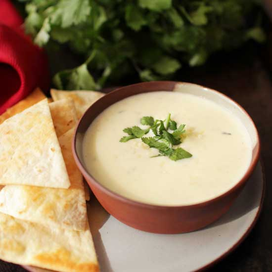 Small Batch White Queso Recipe | One Dish Kitchen | Game Day Recipes