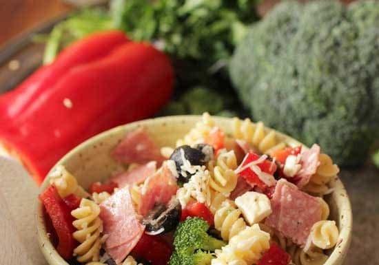Italian Pasta Salad For One   One Dish Kitchen