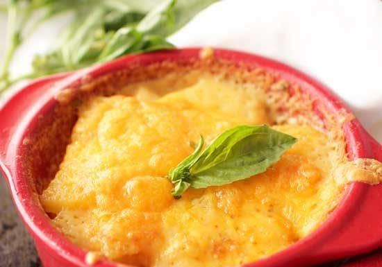 bowl of scalloped potatoes
