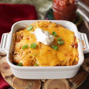 Vegetarian Enchiladas For One | One Dish Kitchen