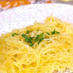 spaghetti squash on dish