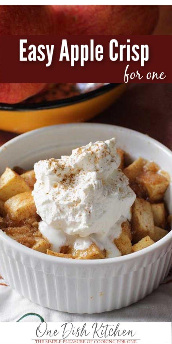 apple crisp   One Dish Kitchen