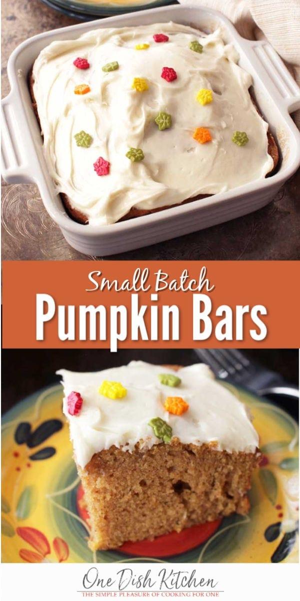 pumpkin bars pin | one dish kitchen
