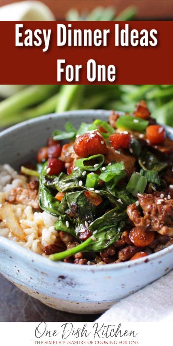 dinner ideas | pork bowl | one dish kitchen