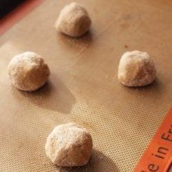 ginger cookies dough balls