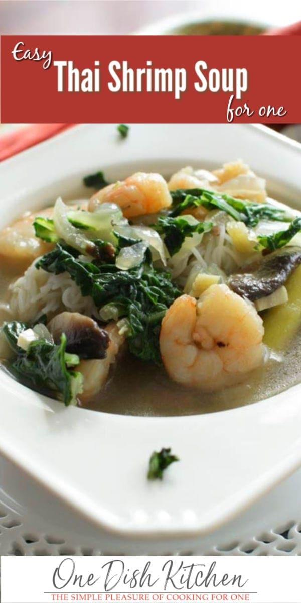 thai shrimp soup | one dish kitchen