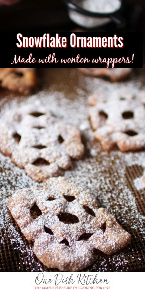snowflake ornaments | one dish kitchen