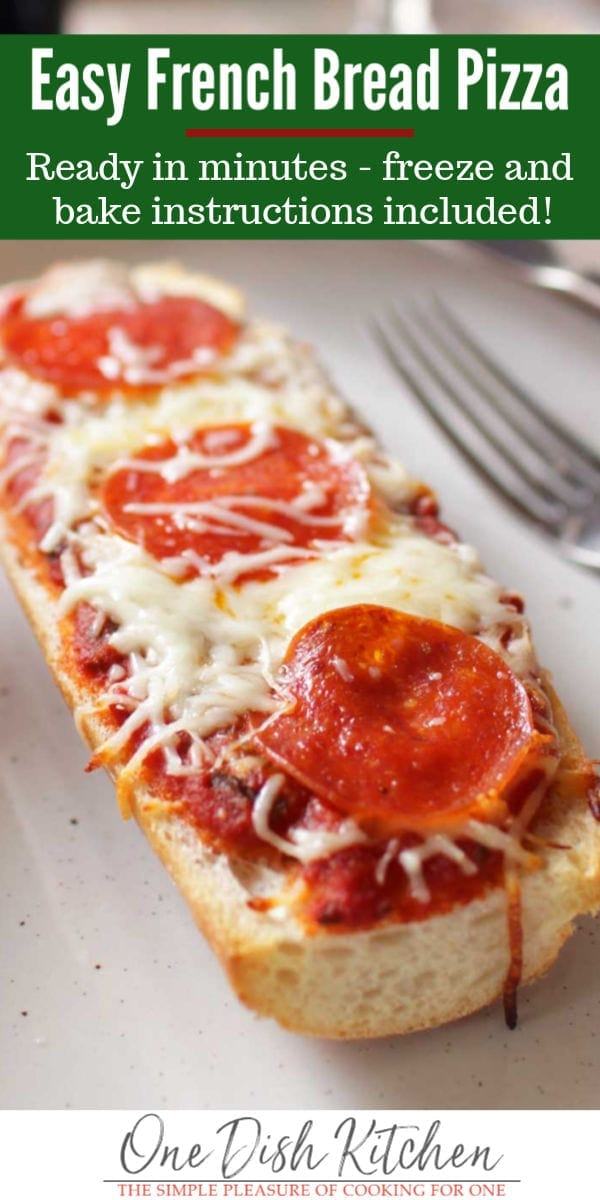 homemade french bread pizza   one dish kitchen