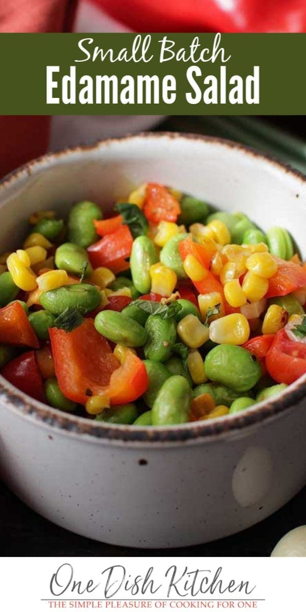 edamame salad with red peppers   one dish kitchen