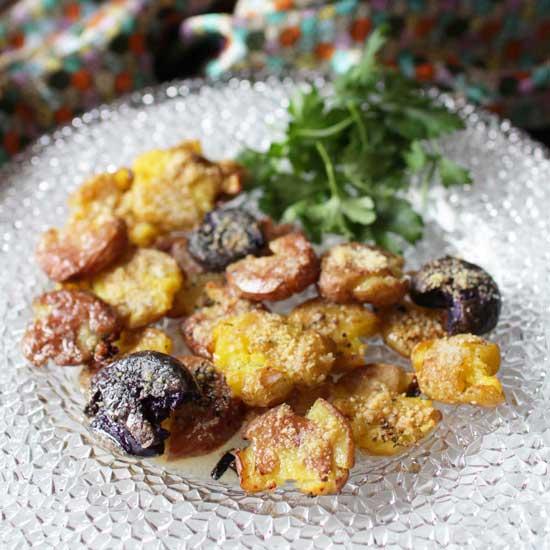 garlic smashed potatoes   one dish kitchen