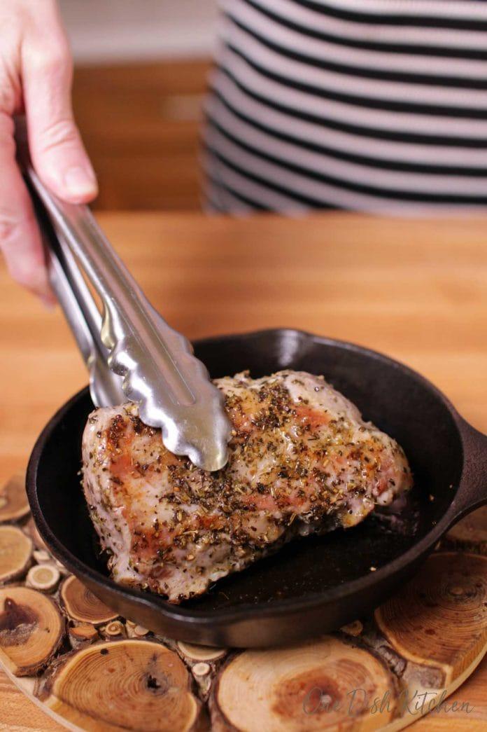 getting a sear on a pork tenderloin | one dish kitchen