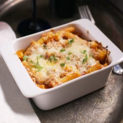baked ziti for one | one dish kitchen