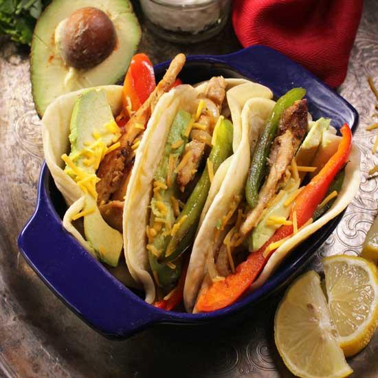 chicken fajitas for one | one dish kitchen