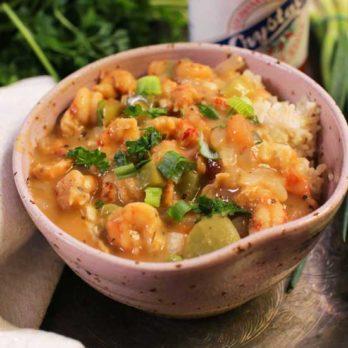 crawfish etouffee in bowl