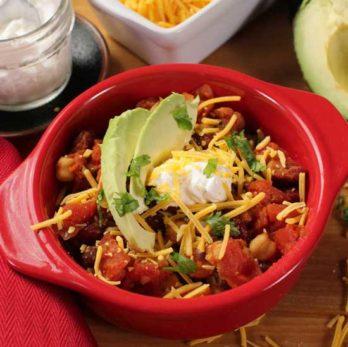 vegetarian chili for one | one dish kitchen